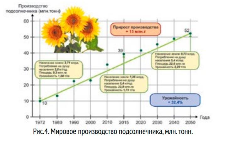 Мировое производство подсолнечника