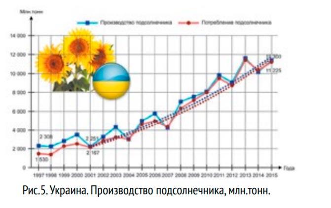Производство подсолнечника в Украине