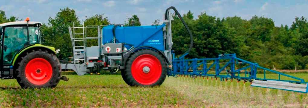 Внесение КАС32 при проведении основной обработки почвы